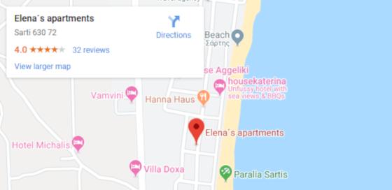 Elena 's Apartments Map Image